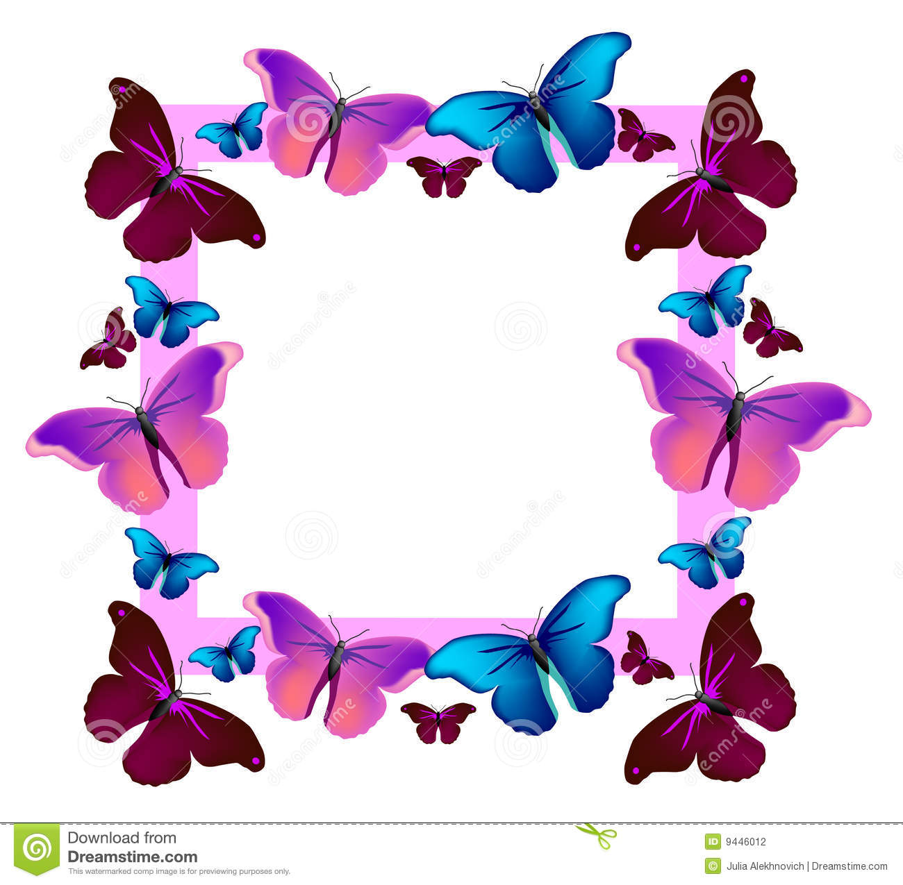 Vector colorful flying butterflies