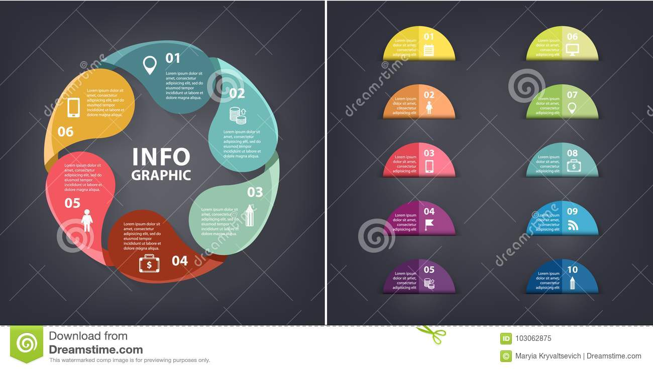 Vector Colorful Loop Infographic  Template For Diagram  Graph  Presentation And Chart  Paper