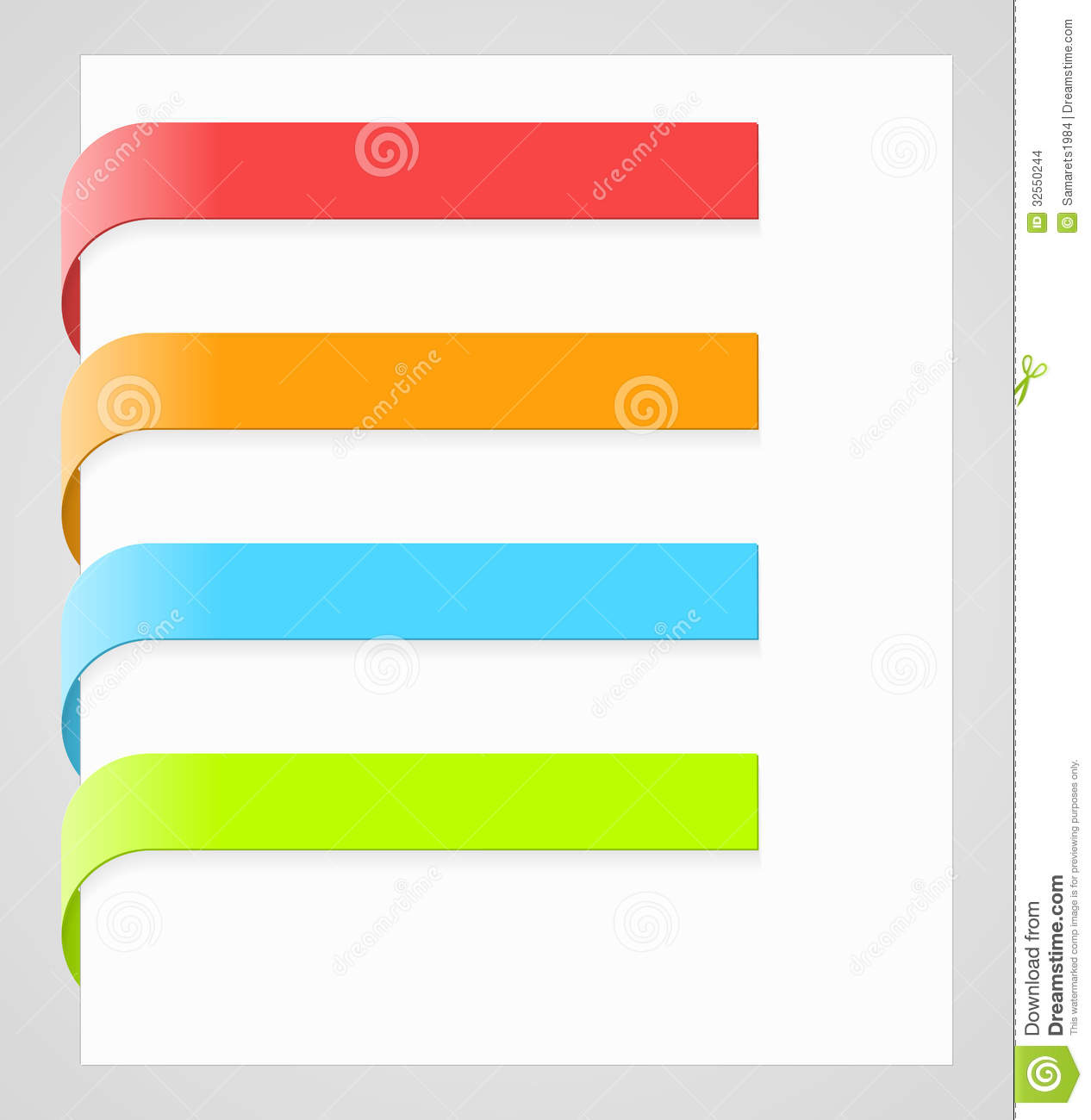 vector colorful paper labels stock photo
