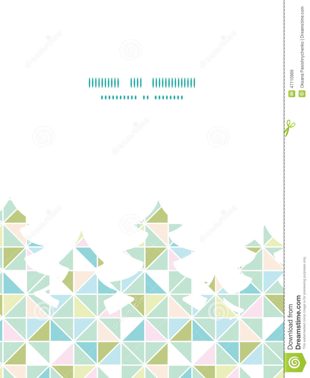 Vector Colorful Pastel Triangle Texture Christmas Stock