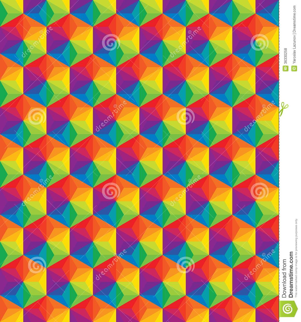 Vector colorful pattern of geometric shapes. Cloth, artistic.