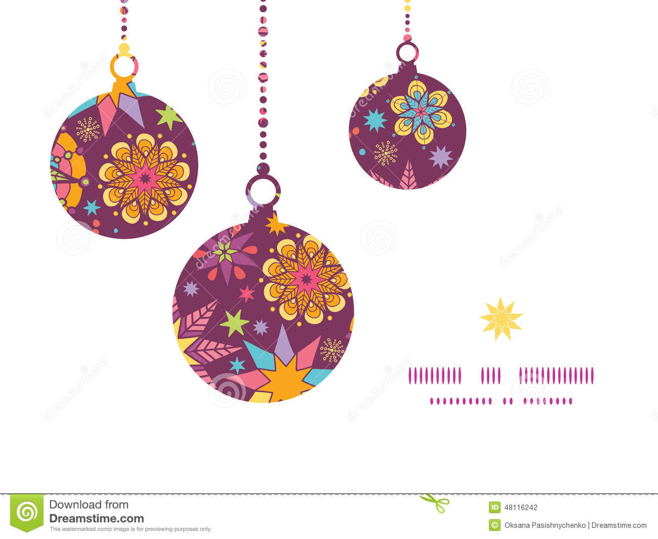 Vector colorful stars christmas ornaments stock vector for Design ornaments