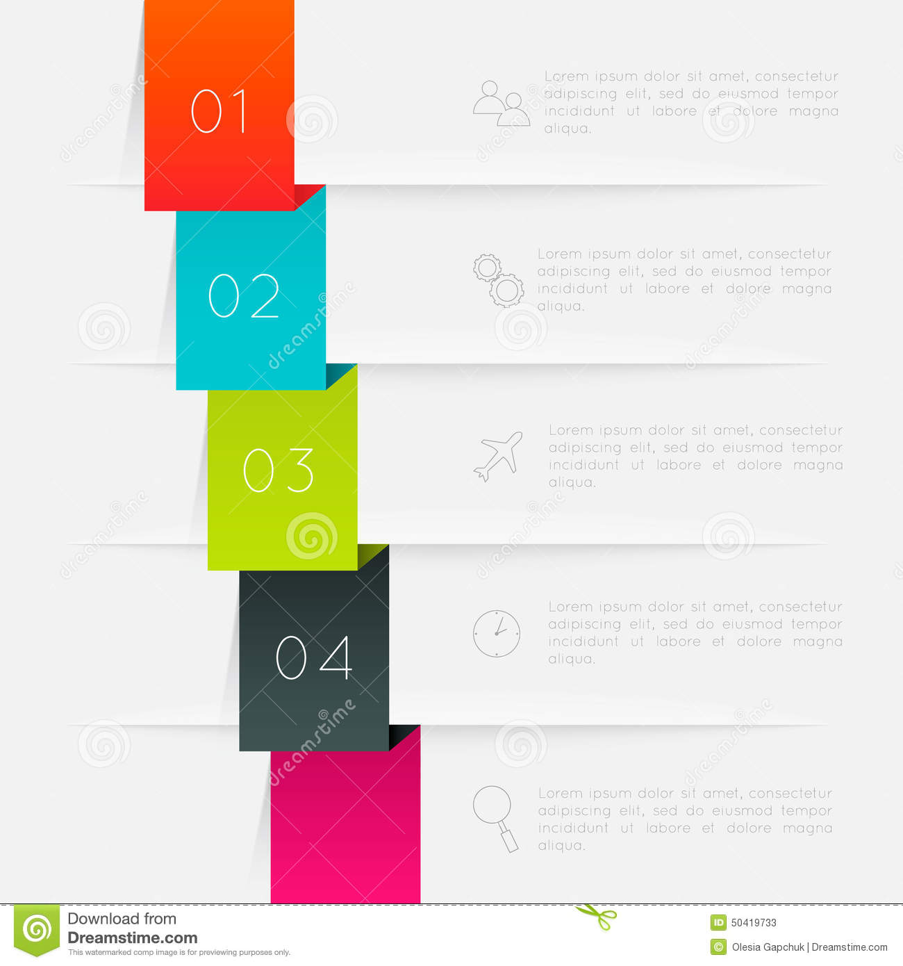 Vector colorful text box trendy colors stock vector for Text table design