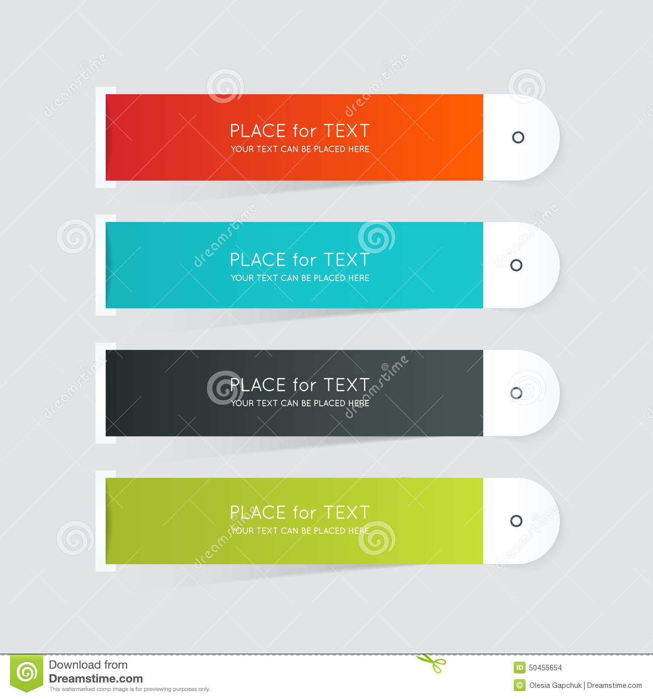 Vector Colorful Text Box  Trendy Colors  Stock Vector