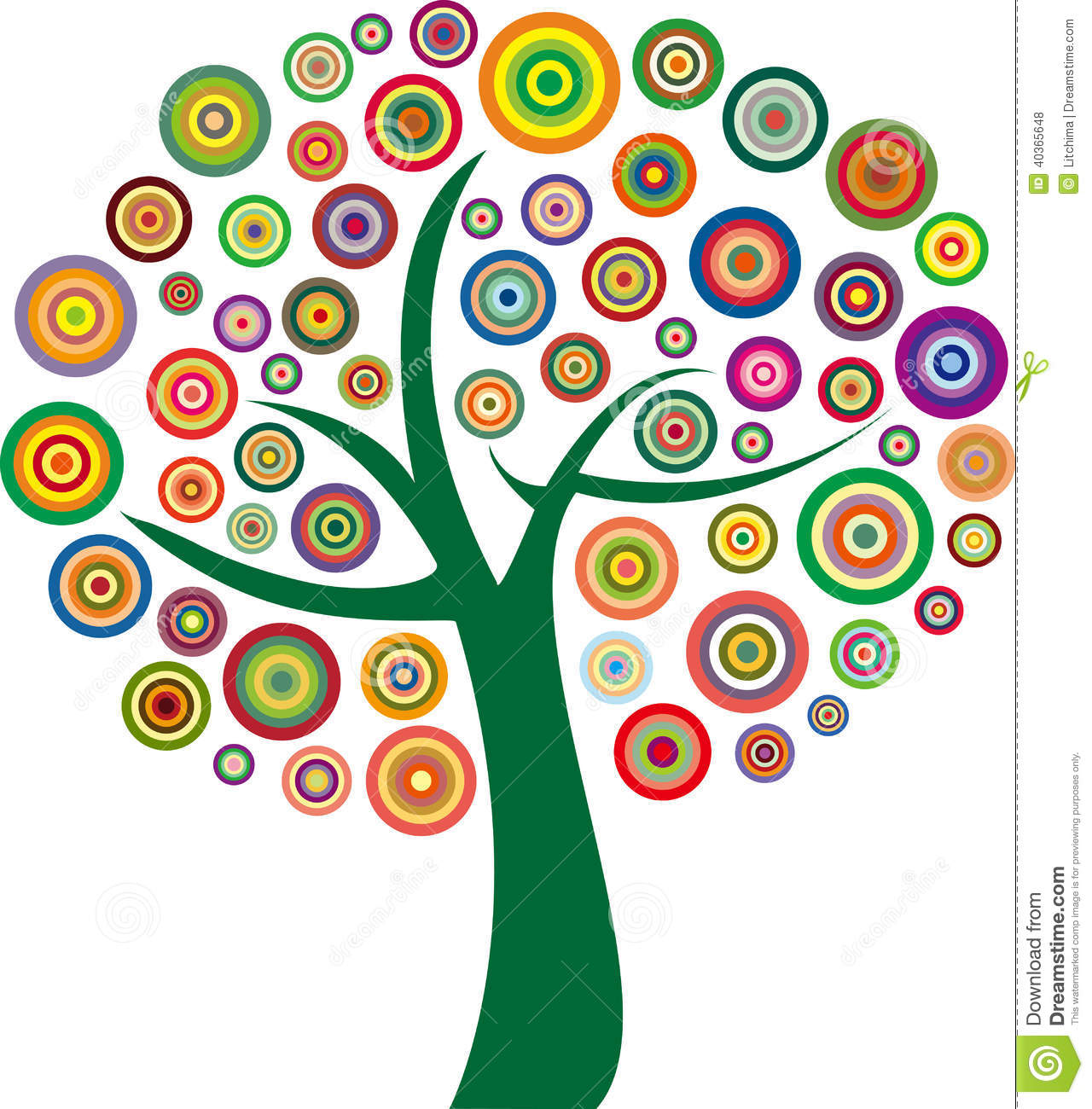 Vector colorful tree stock vector. Illustration of circular - 40365648