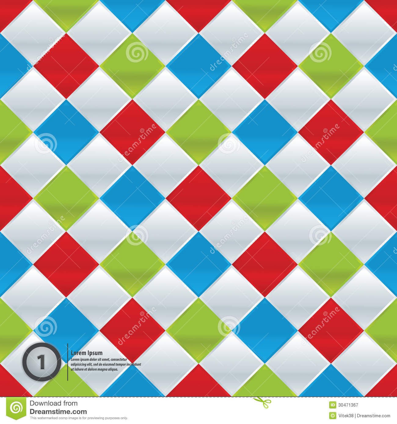 Vector colorfully mosaic. Simple pattern in four trendy colors. Little ...