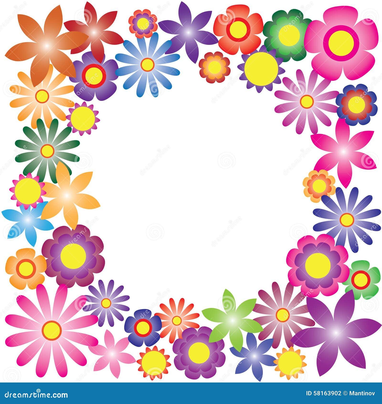 Vector Colorido De Las Flores Para El Fondo Ilustración Del Vector
