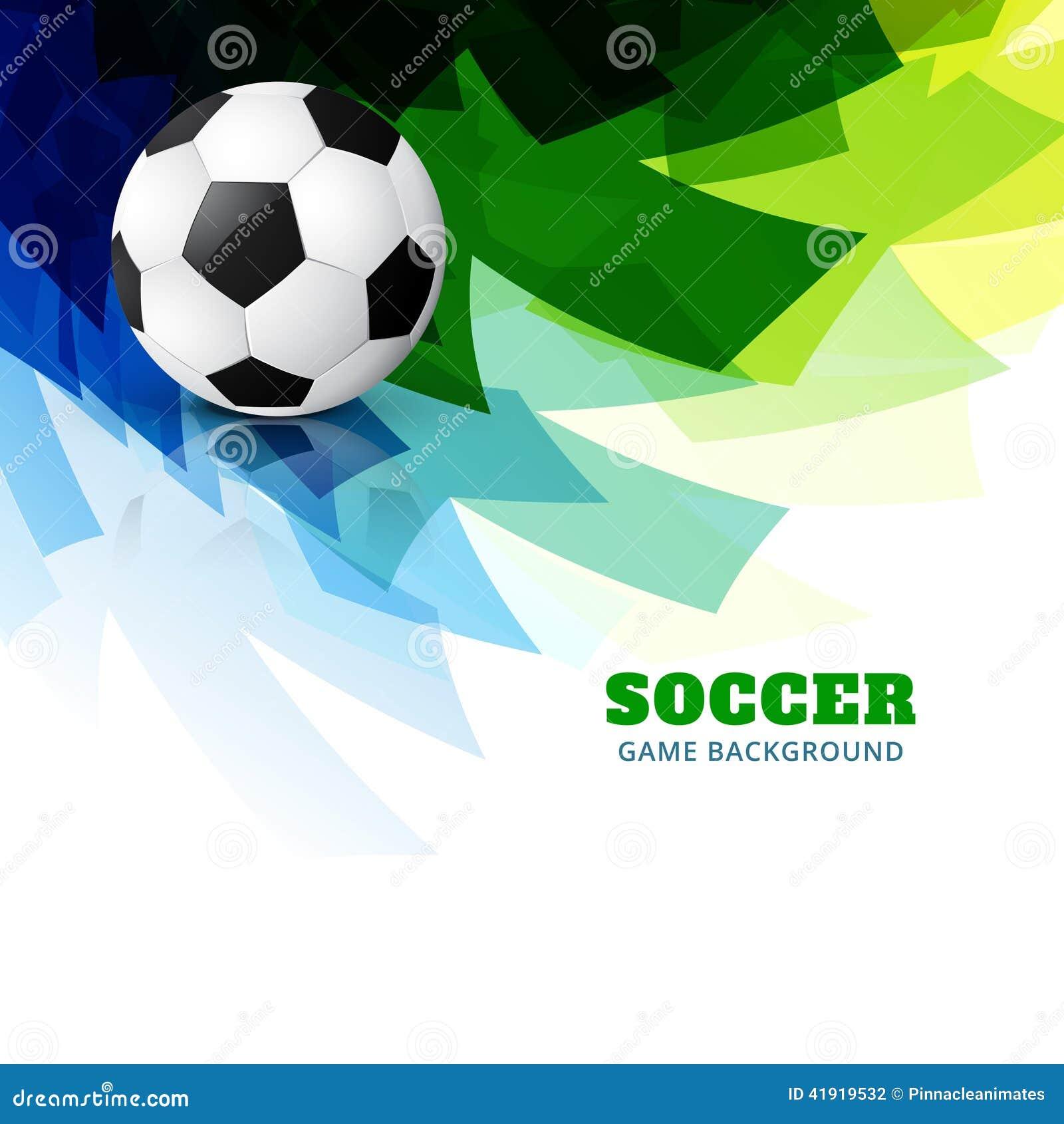 Vector colorido del fútbol