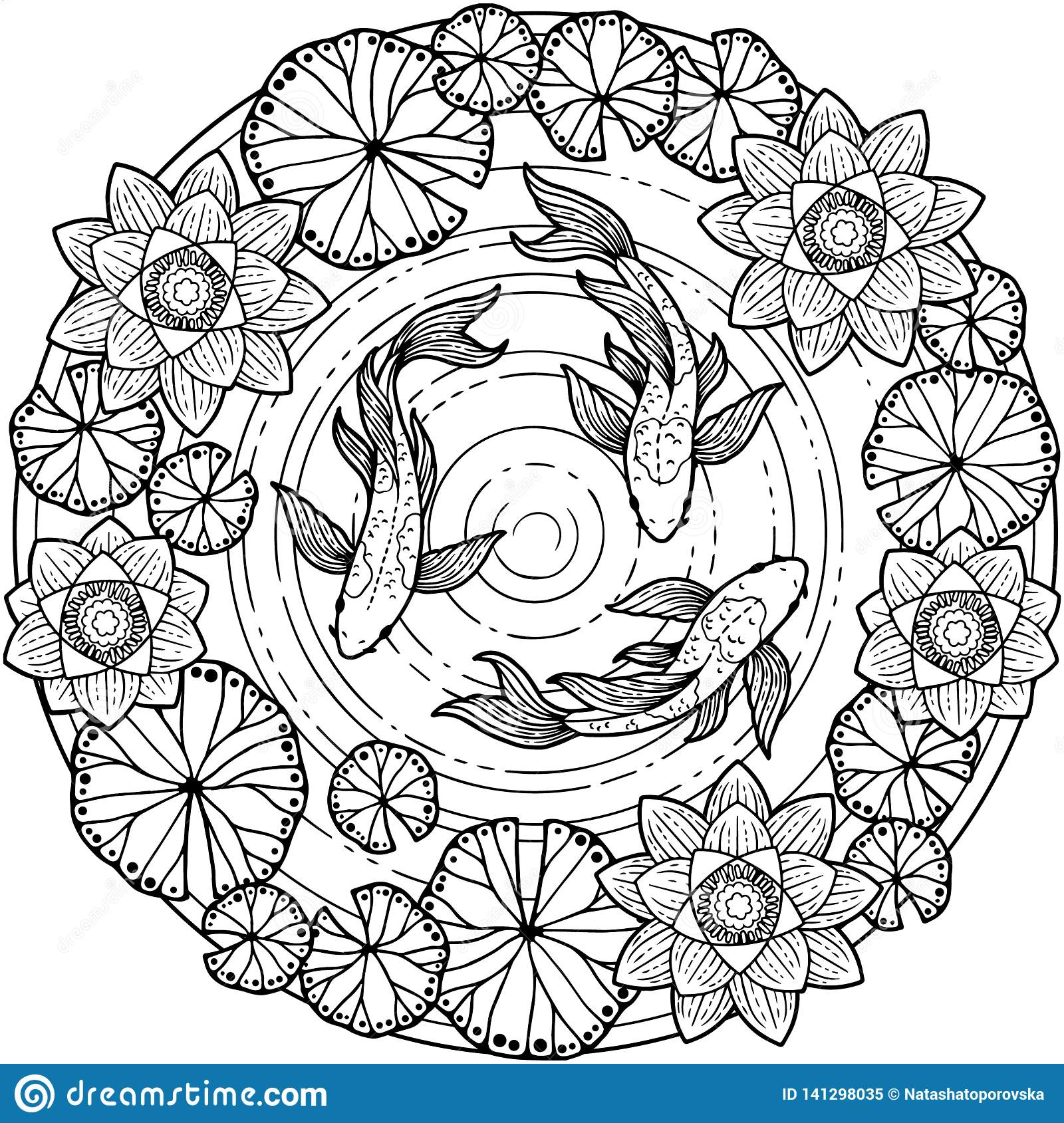 Vector Coloring Page For Adult. Tropical Summer Pattern ...