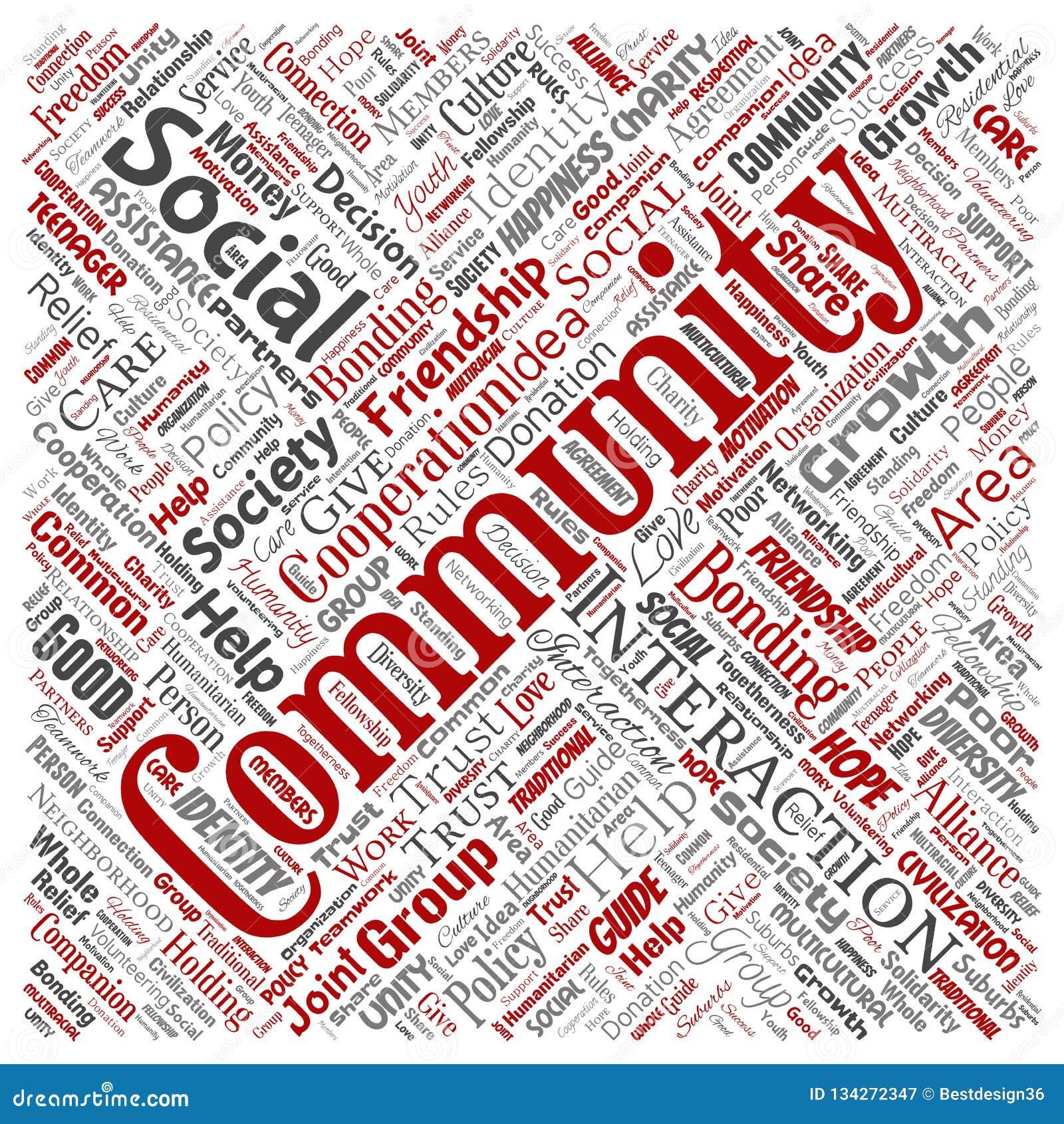 Vector communautair, sociaal, verbinding