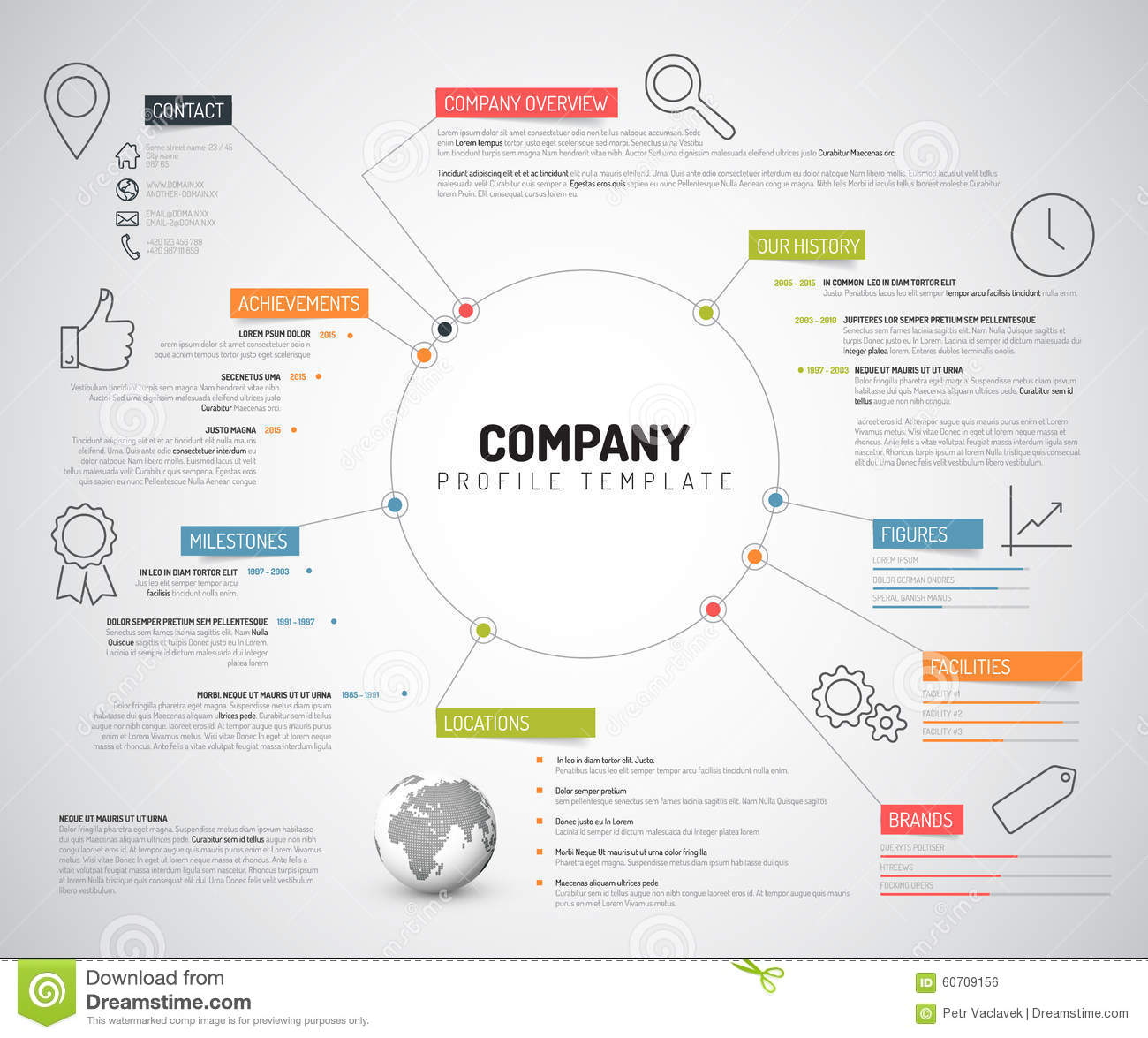Vector company infographic overview design template stock for The design company