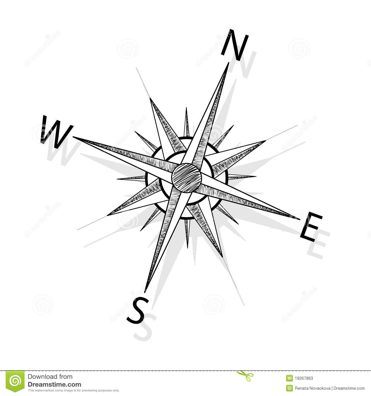 Vector Compass Stock Illustration Of Geography