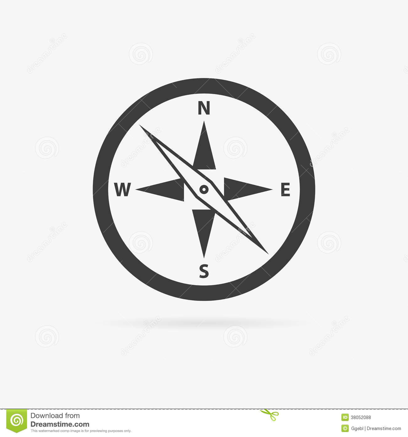 vector compass icon stock illustration illustration of silver
