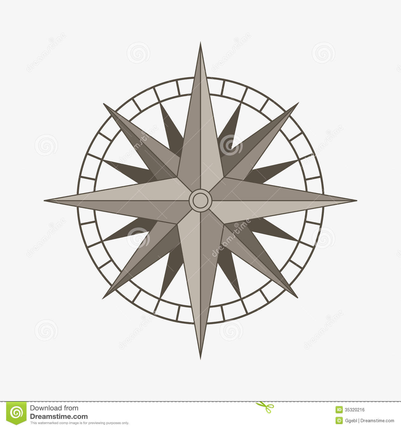 vector compass rose stock vector illustration of flat 35320216