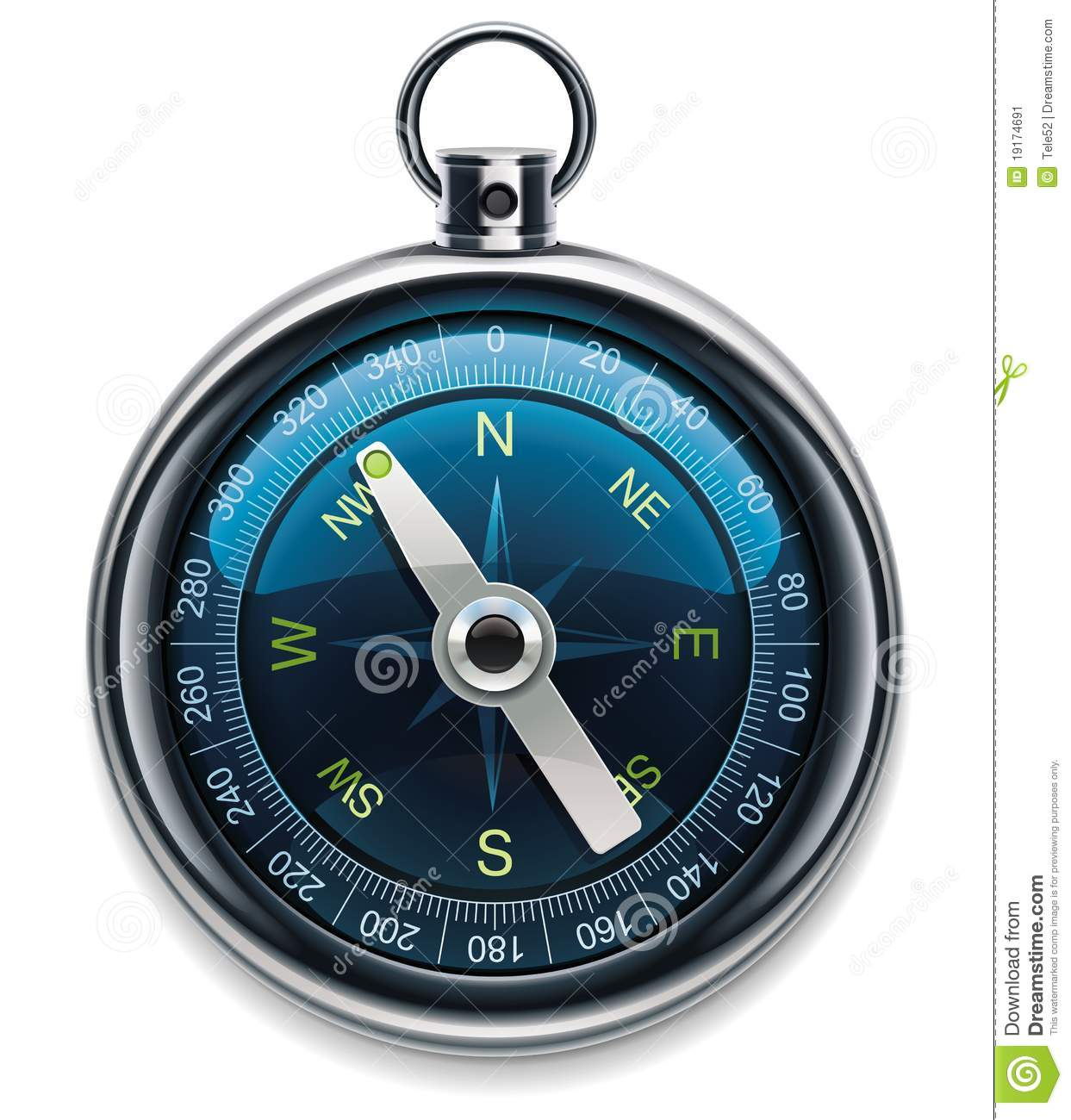 Vector Compass XXL Detailed Icon Stock Image - Image: 19174691