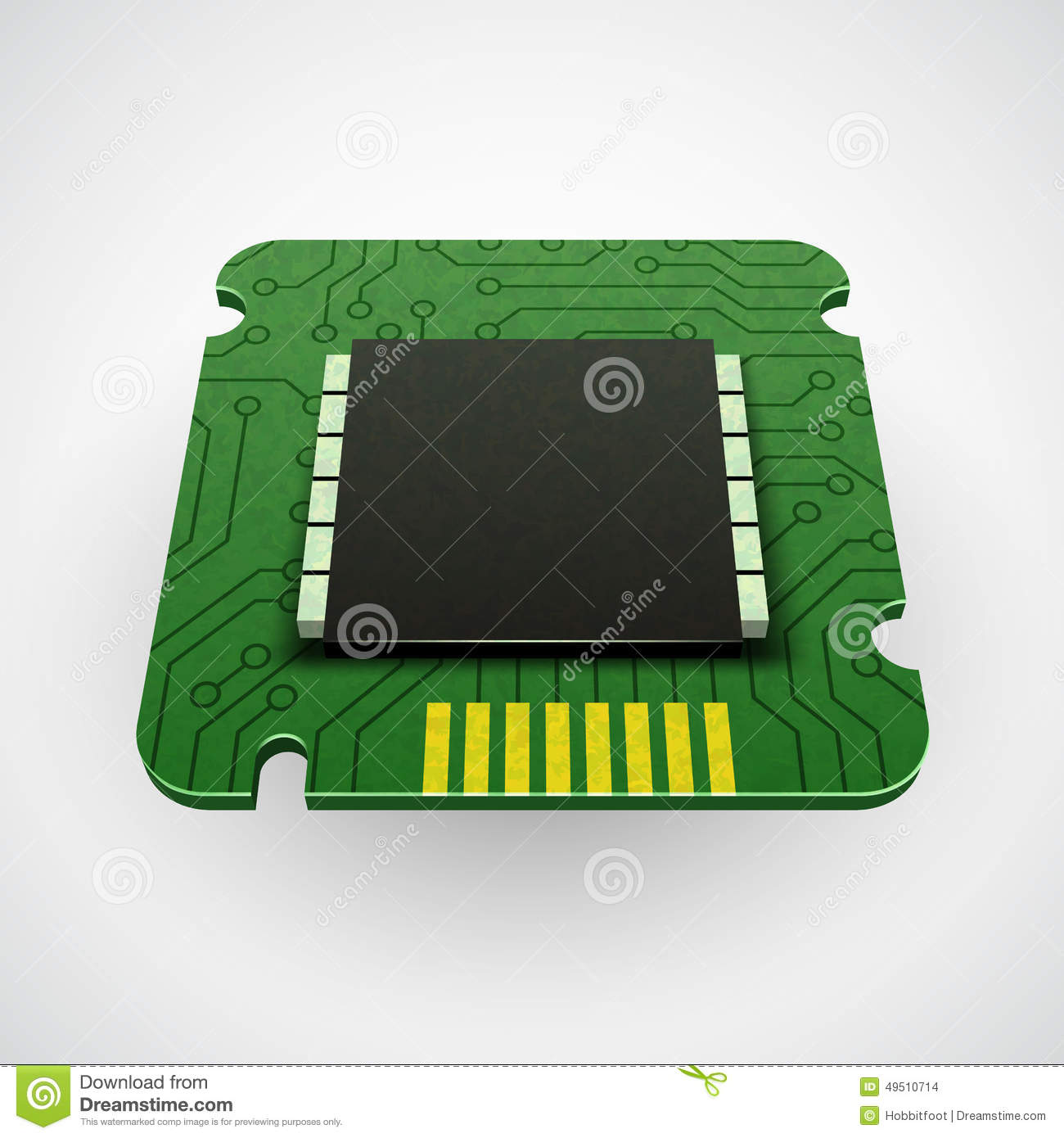 Vector computer chip or microchip.