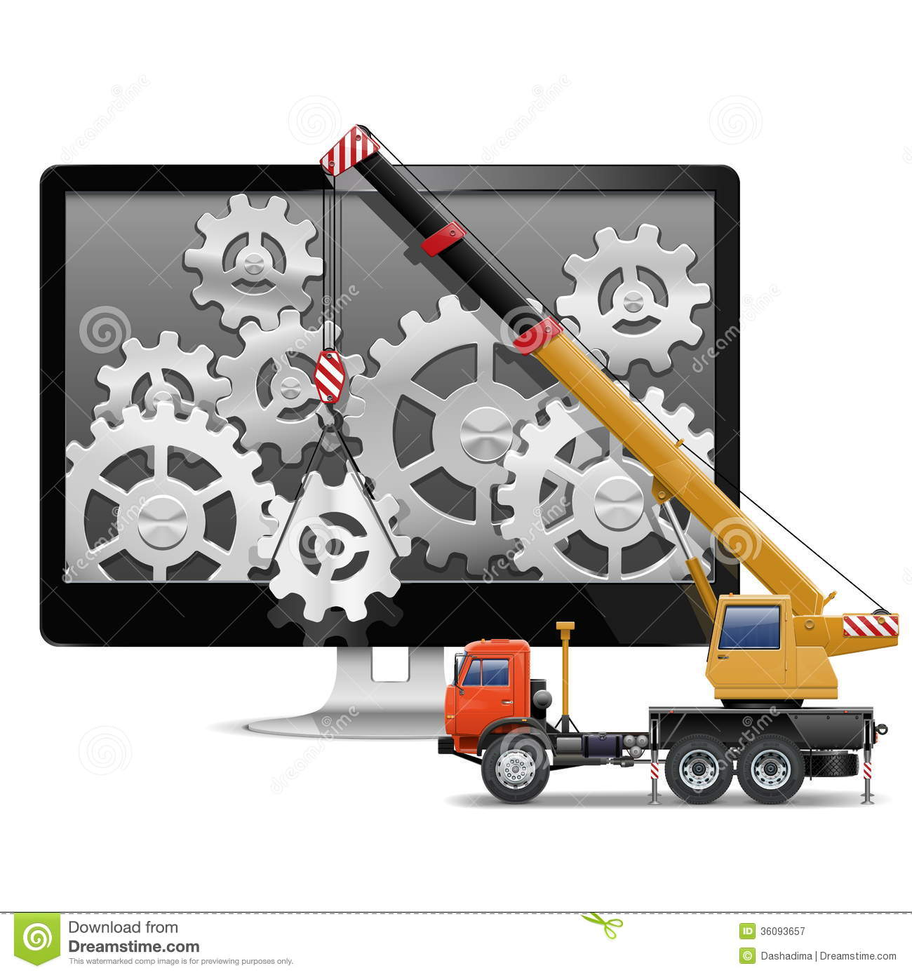 Vector Computer Repair Concept Royalty Free Stock Photography ...