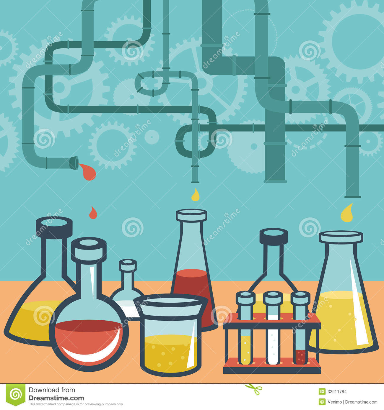 Chemistry Science Clipart Wallpapers Vector concept chemistry and