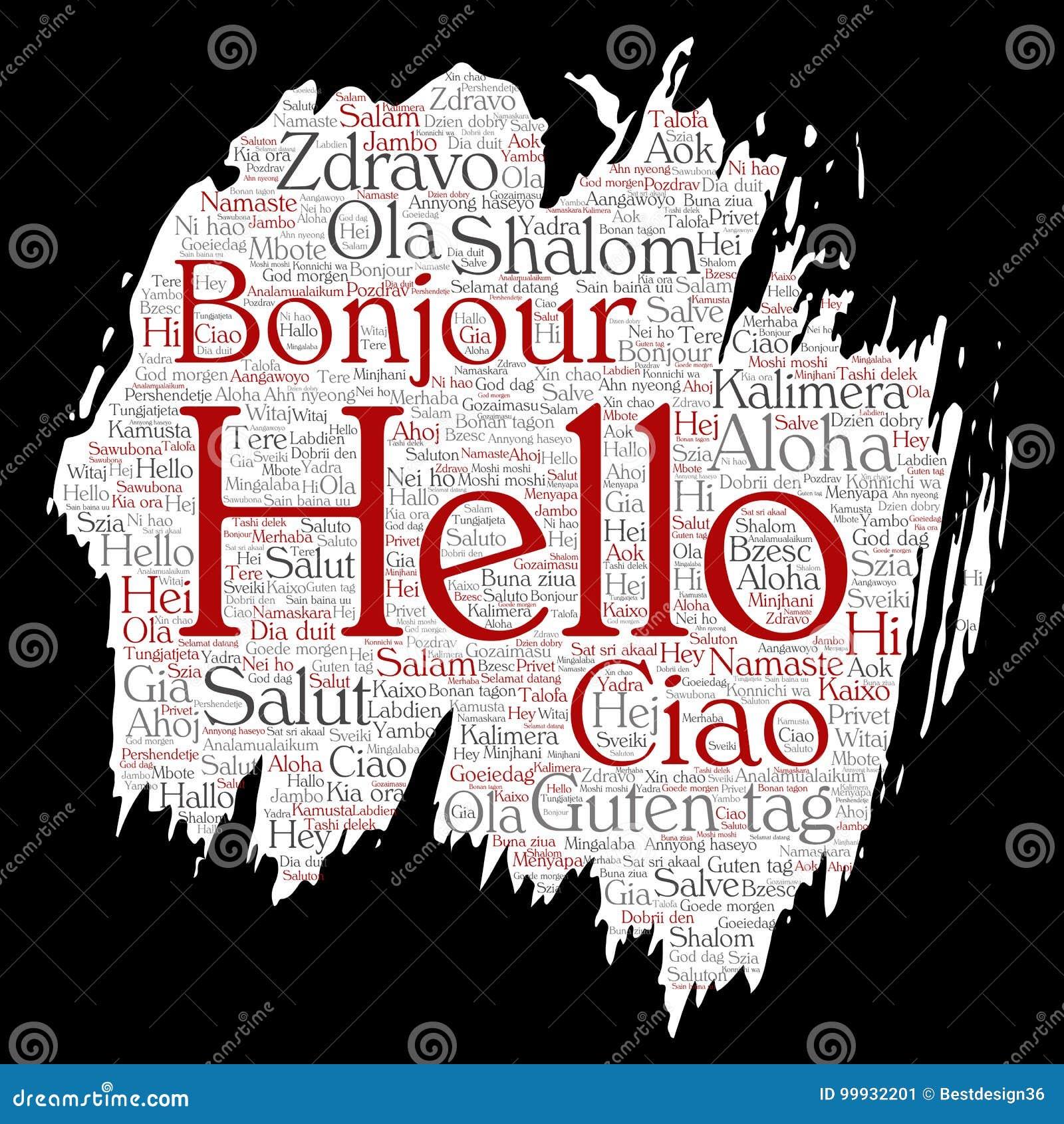 Vector brush paper hello greeting international tourism stock vector vector brush paper hello greeting international tourism m4hsunfo
