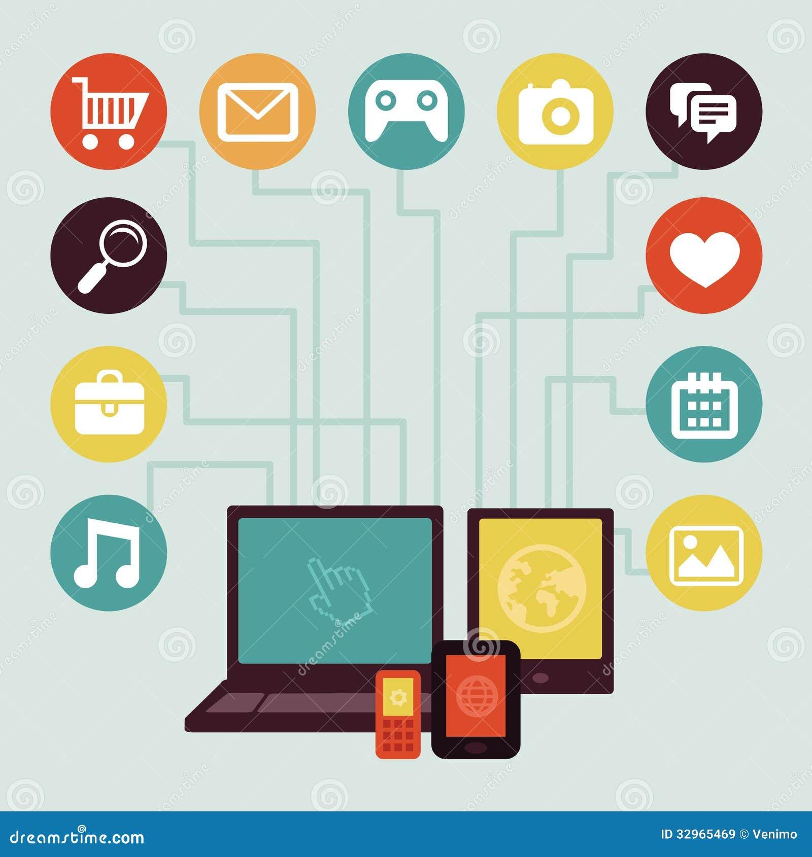 Vector Concept Mobile App Infographics Stock Vector