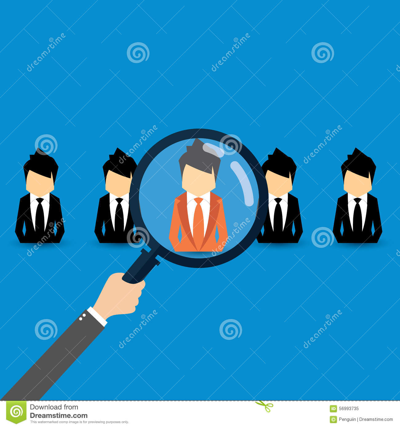 vector concept of searching for professional stuff head hunter vector concept of searching for professional stuff head hunter job employment issue human
