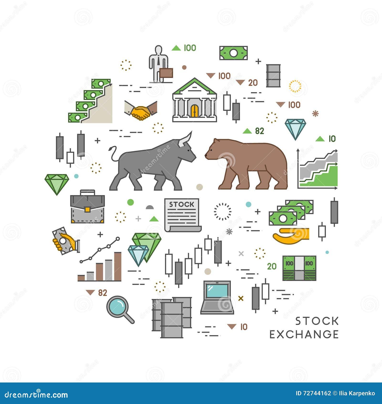 Vector Concept For Stock Exchange Stock Illustration Illustration