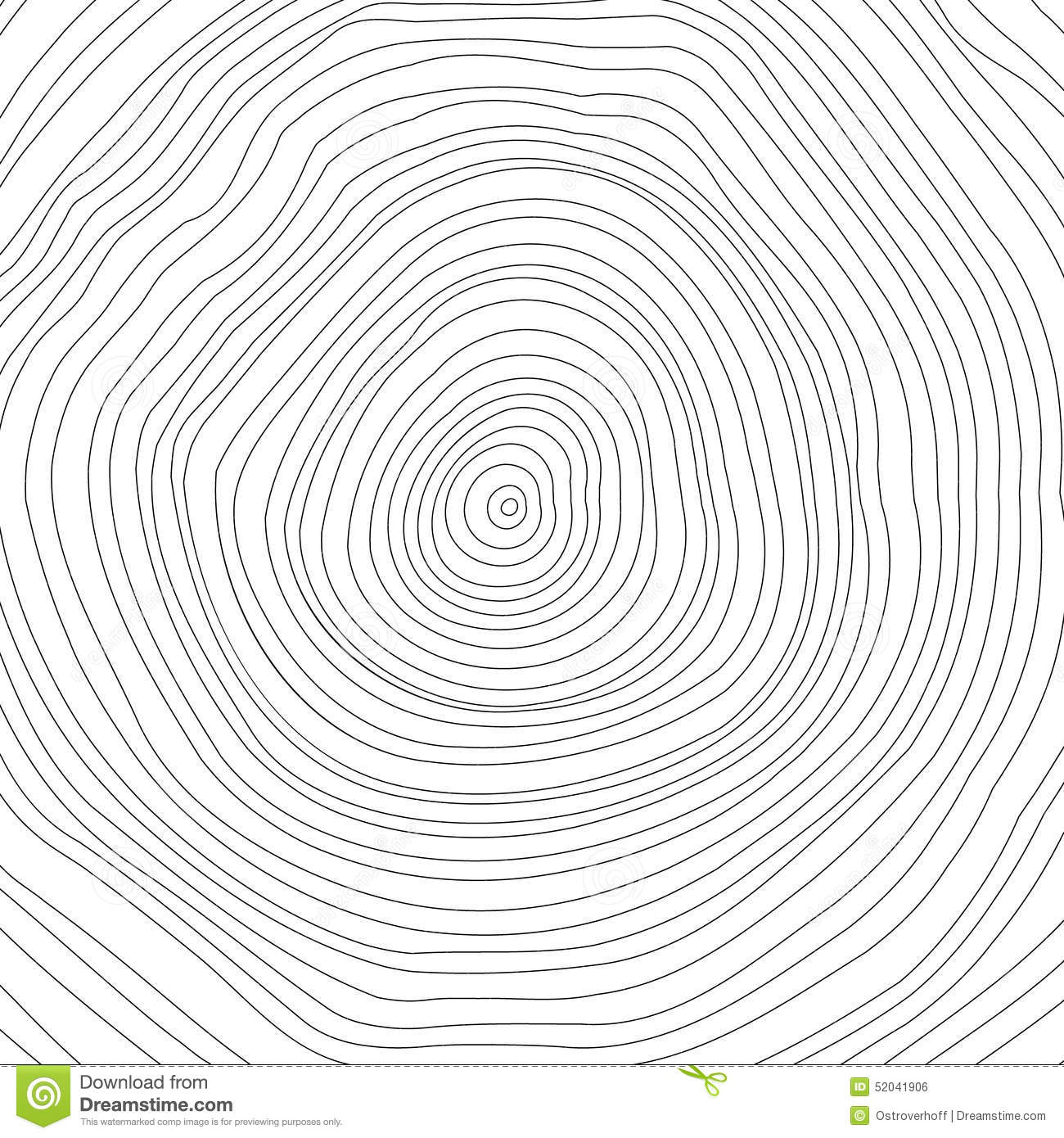 Vector Illustration Tree: Vector Conceptual Background With Tree-rings. Tree Stock