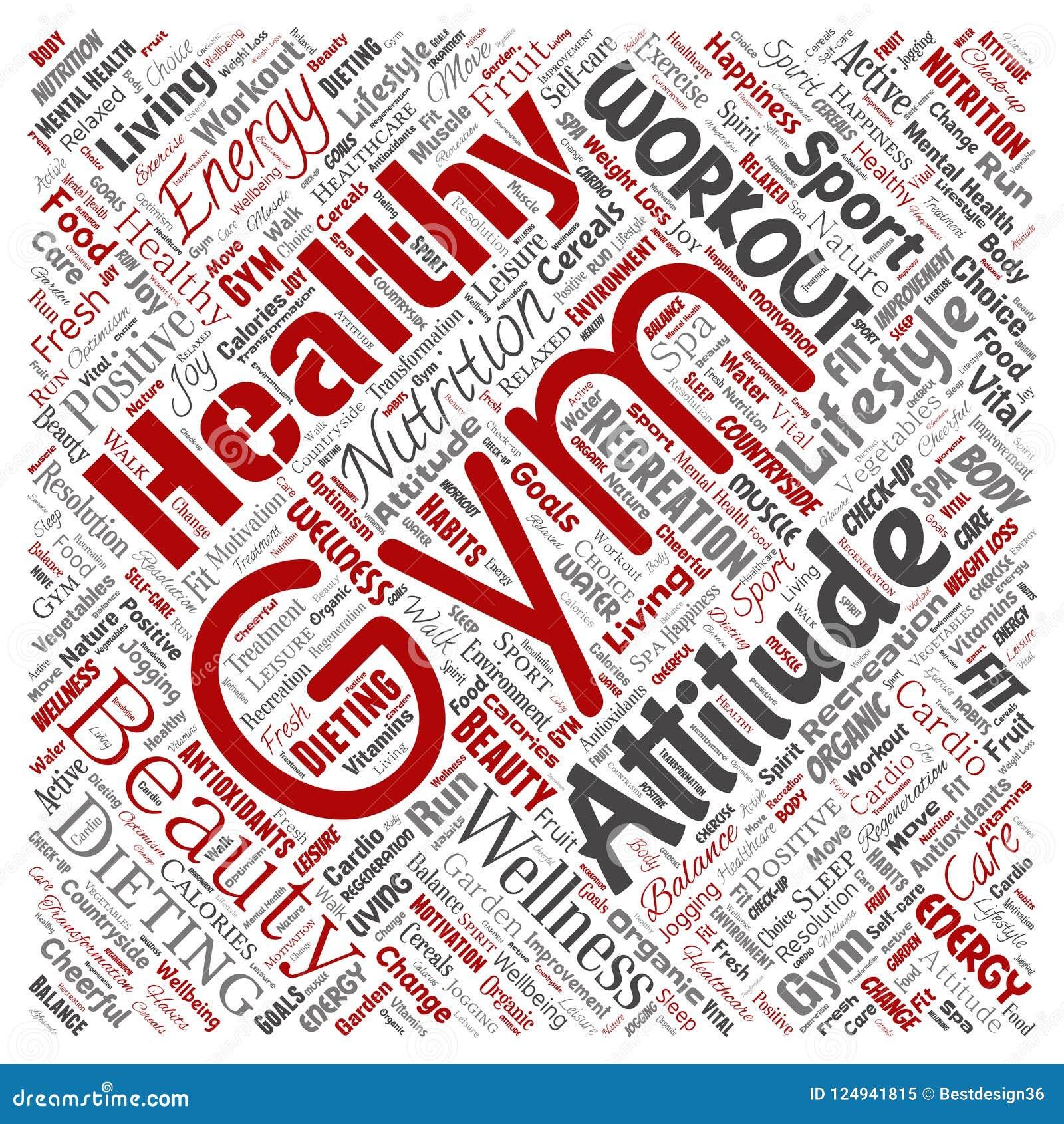Vector Healthy Living Positive Nutrition Sport Stock Vector