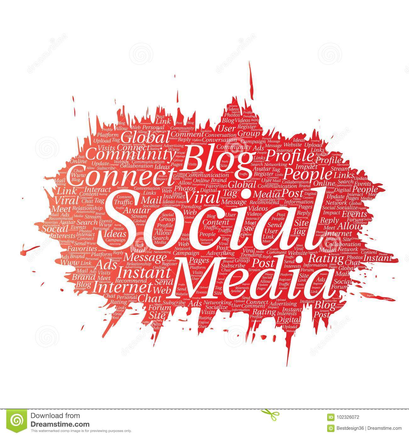 Vector Social Media Networking Communication Web Stock Vector