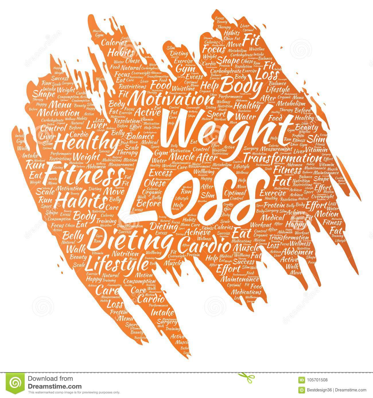 vector conceptual weight loss healthy diet transformation paint