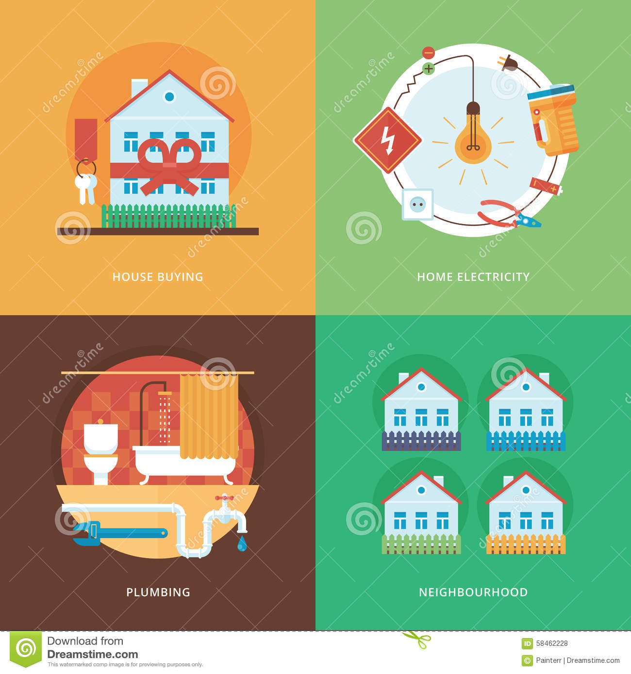 Vector constructing industry of building and development for Best apps for buying a home