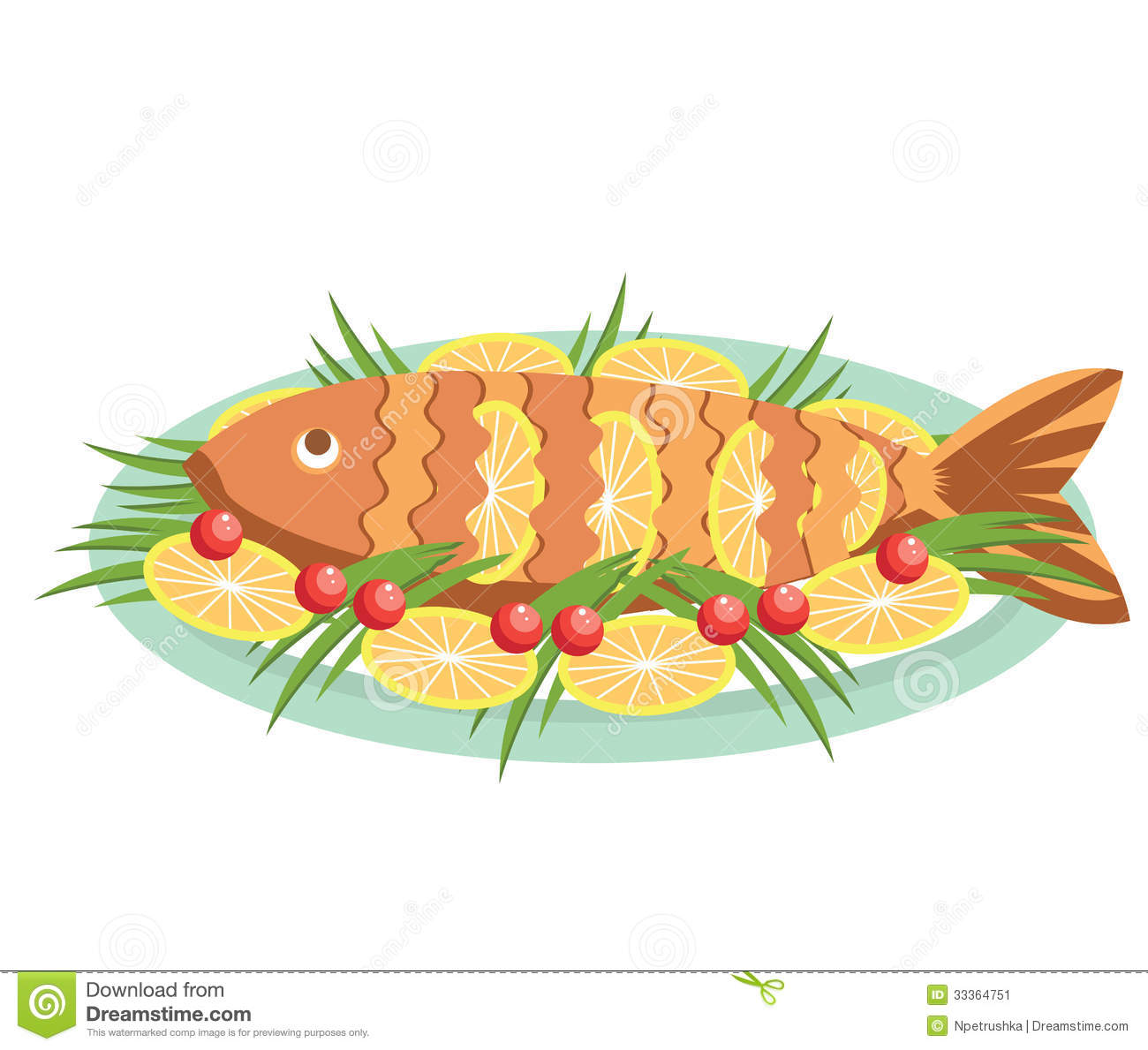 Cartoon cooked fish the image kid has it for How to make fish food