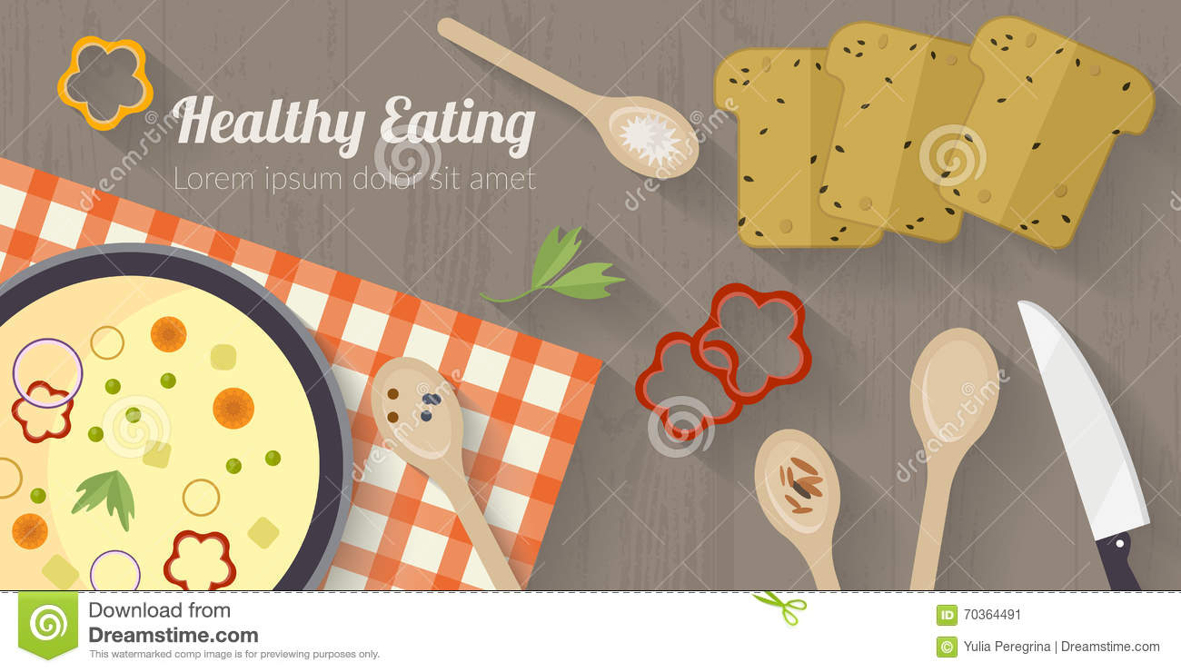 Cool Vector Cooking Time Illustration With Flat Icons Fresh Food Download Free Architecture Designs Scobabritishbridgeorg