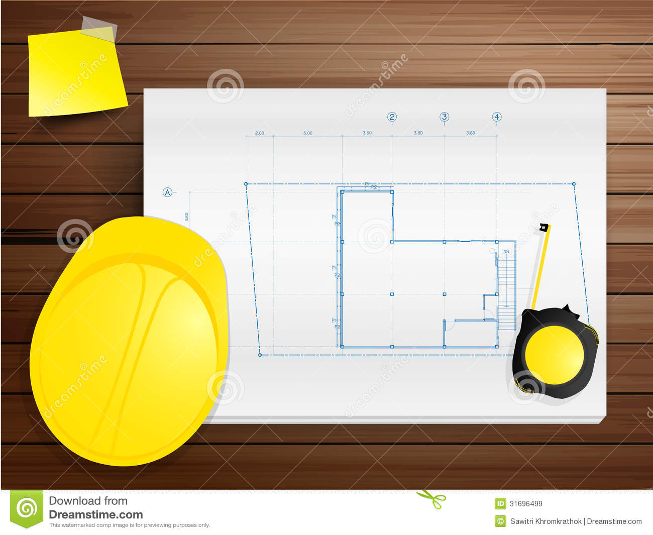 Vector copy space working tool hard hat with bluep