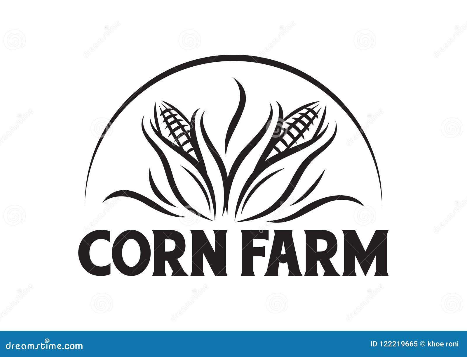 Vector Corn Farm For Company Logo Stock Vector