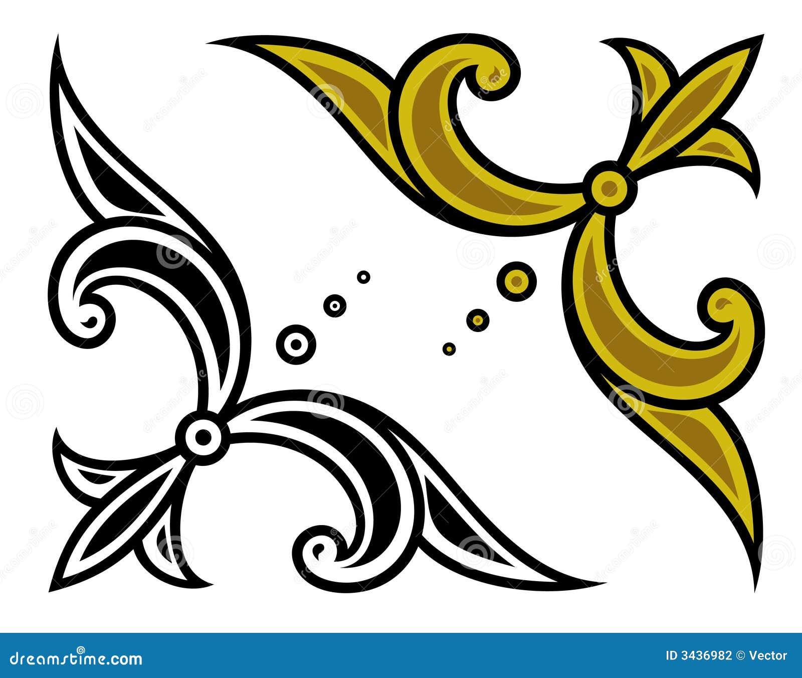 Vector corner ornament stock vector. Image of decor ...