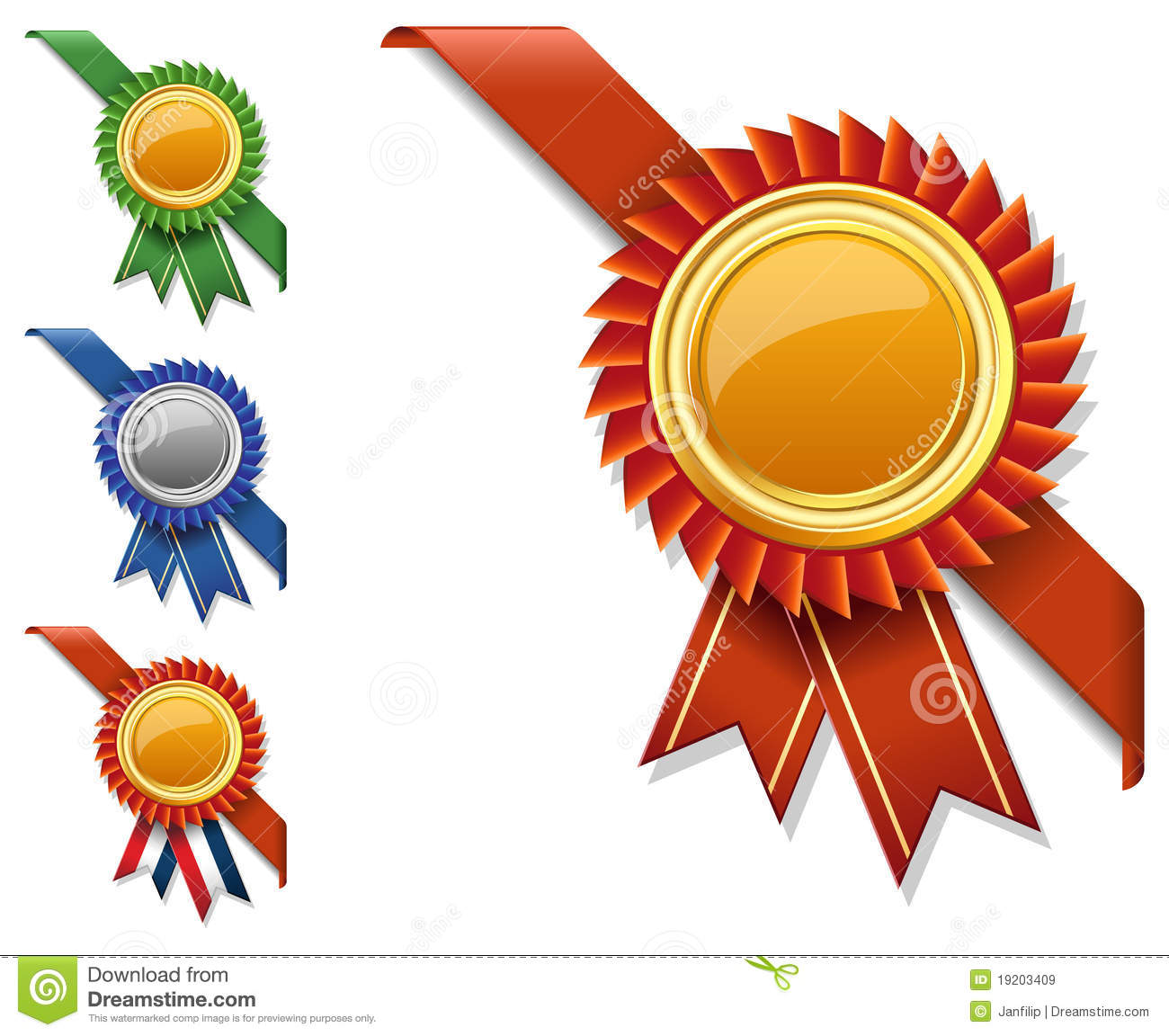Vector Corner Ribbon And Quality Certificate Stock ...