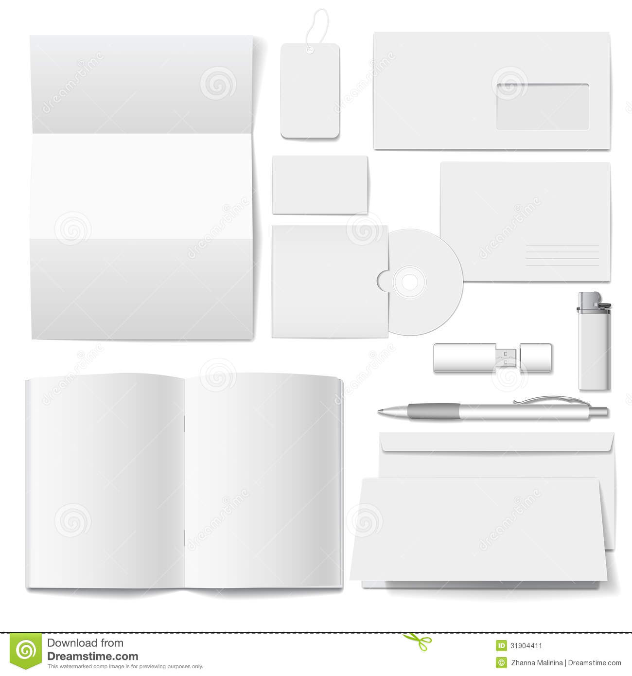 vector corporate identity template stock image image 31904411