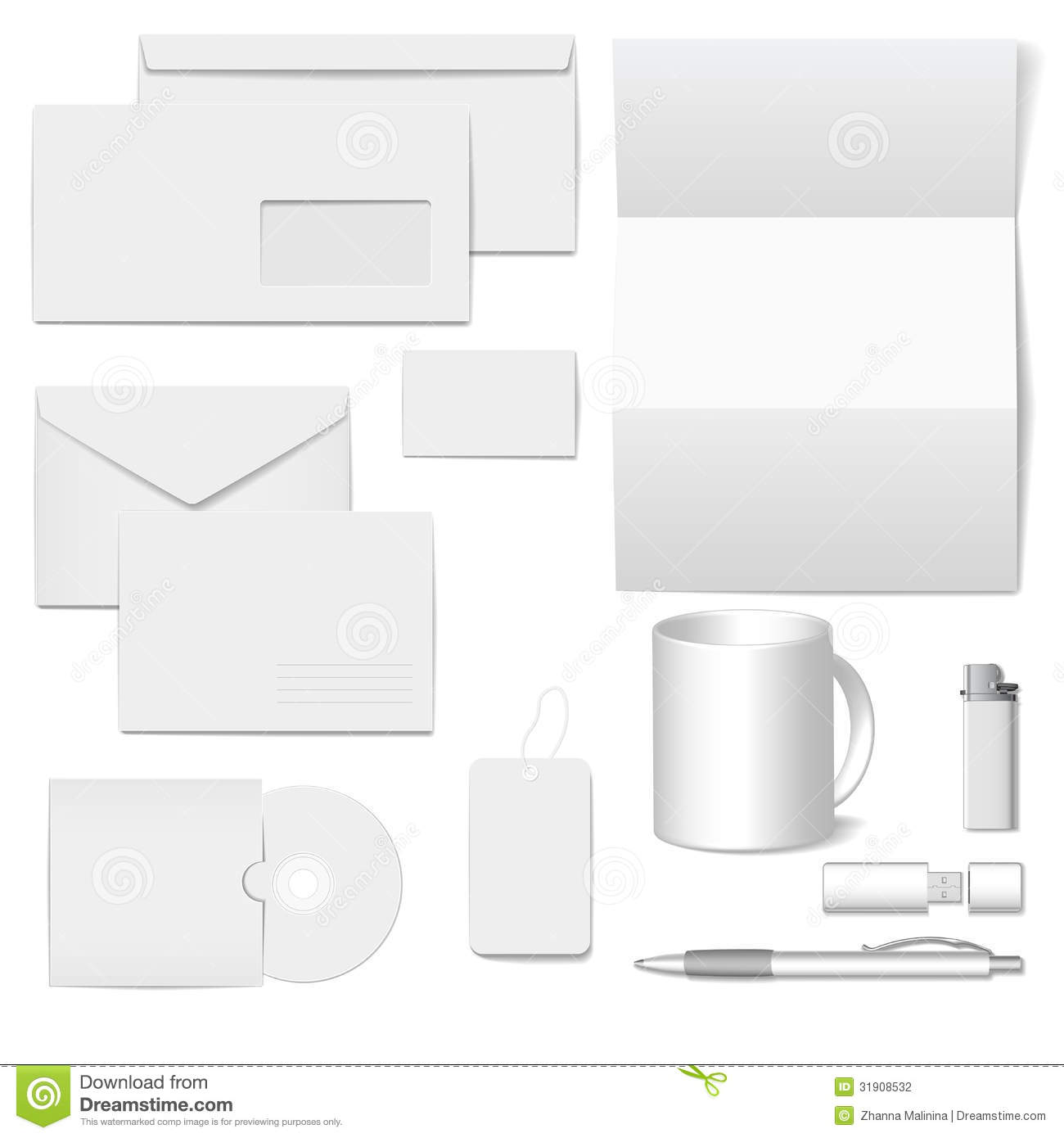 Blank Stationery And Corporate Identity Template Consist: Vector Corporate Identity Template Stock Photography