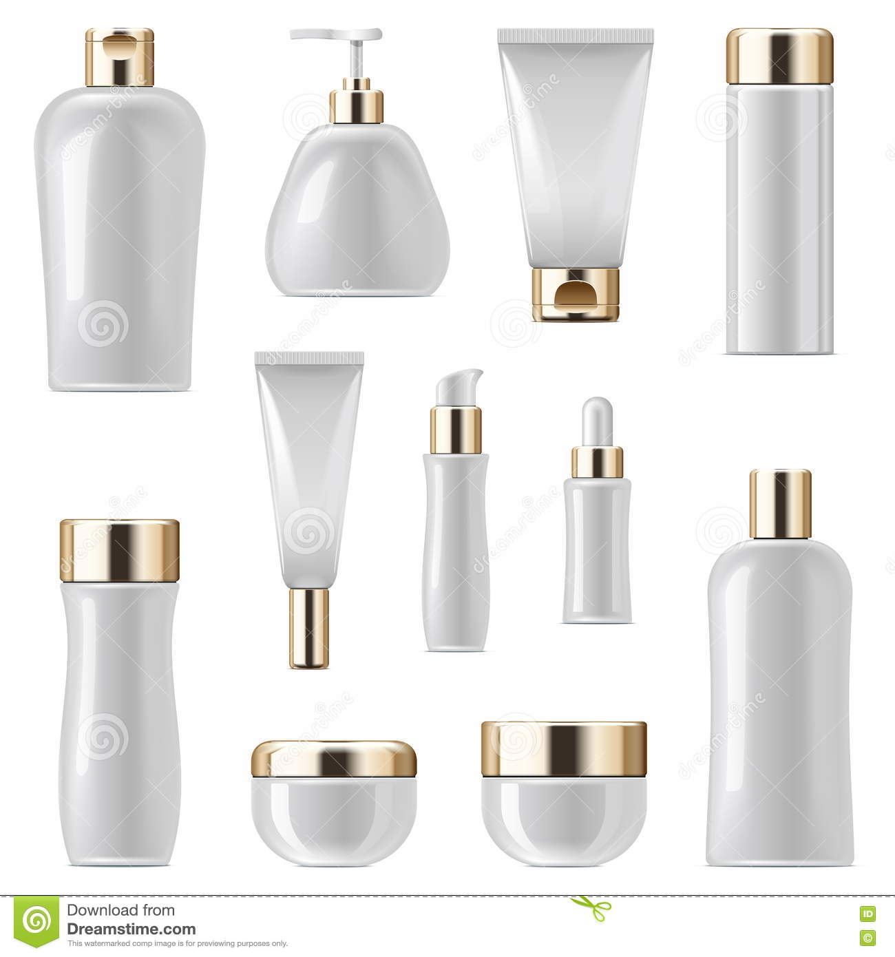 Vector Cosmetic Packaging Icons Set 3