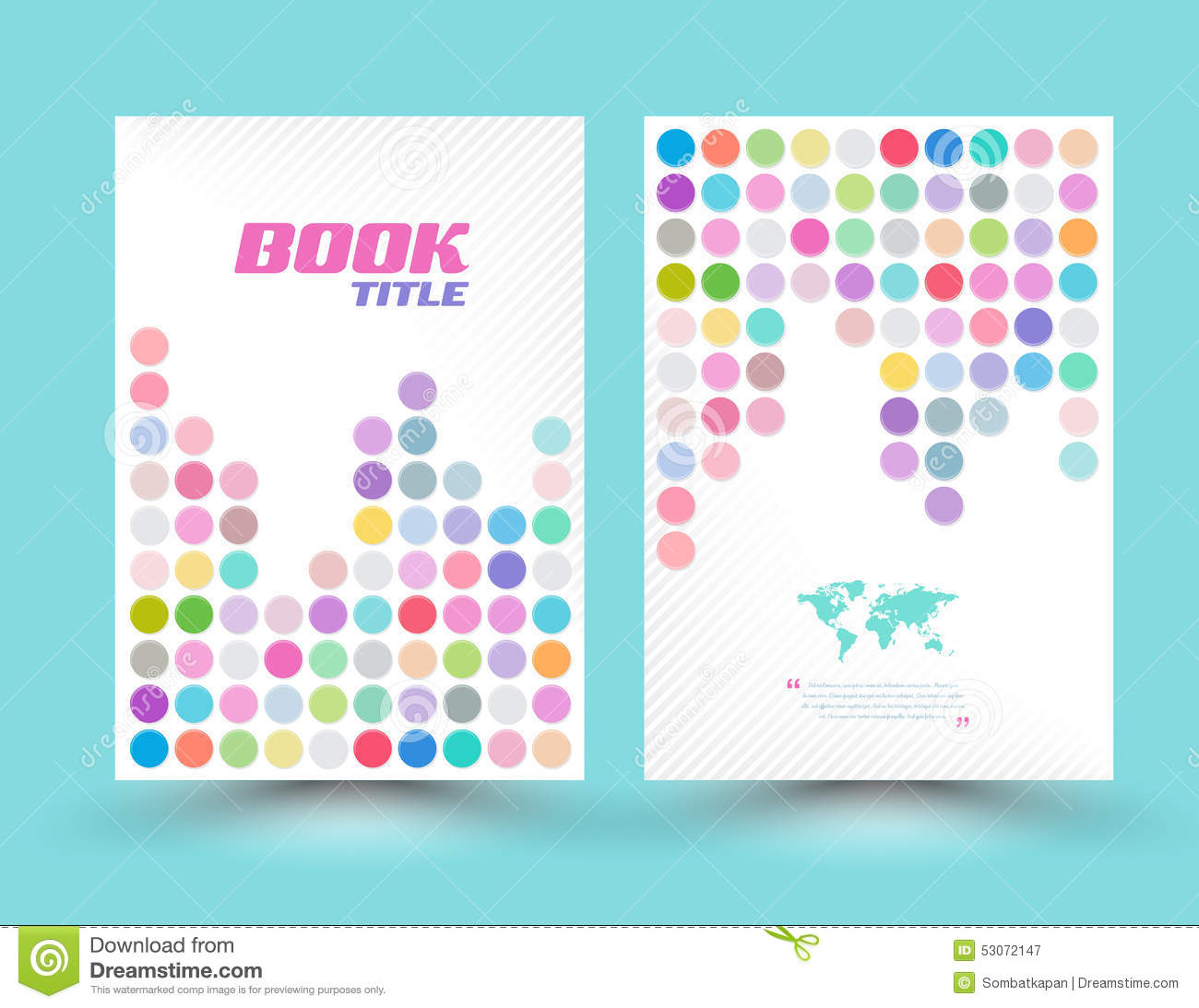 Vector Cover Template Design Colourful Stock Vector