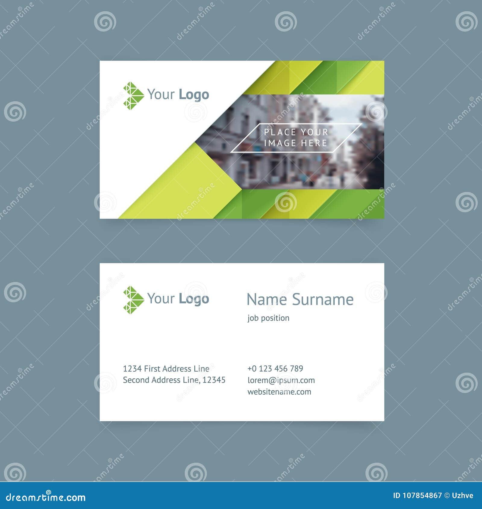 Vector Creative Business Card Template Stock Vector Illustration