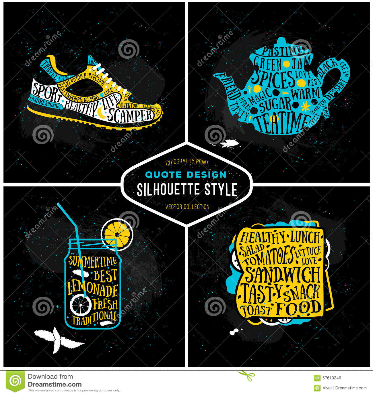 Vector Creative Collection Of Quotes Card Design Set Of Typography