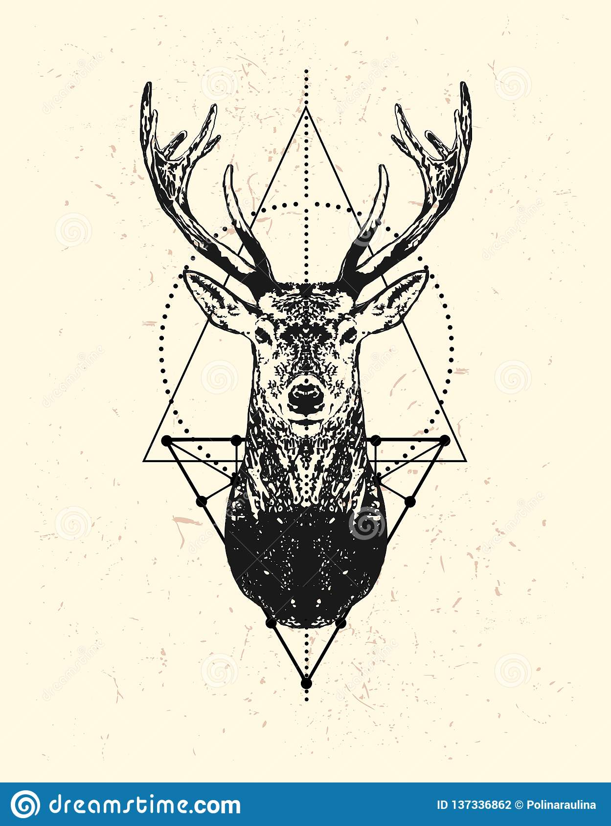 How To Draw A Deer Head Silhouette - Drawing Art Ideas