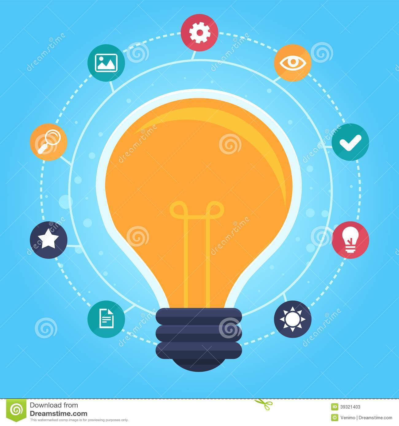 Vector Creative Idea Infographic Stock Vector