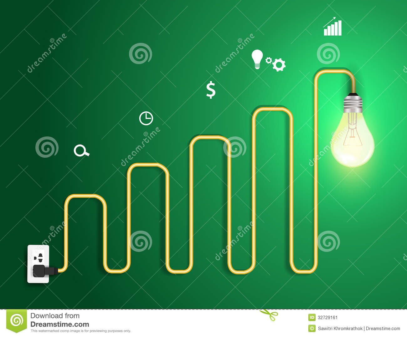 Vector Creative Light Bulb Abstract Charts And Gra Stock