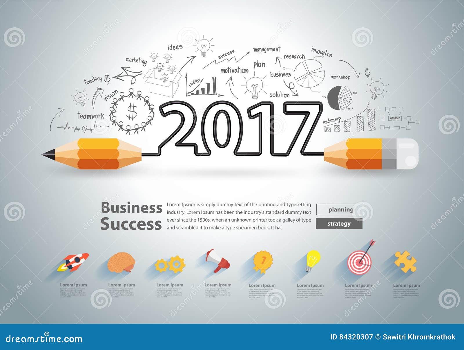 Calendar Cover Design Ideas : Vector creative pencil design new year stock