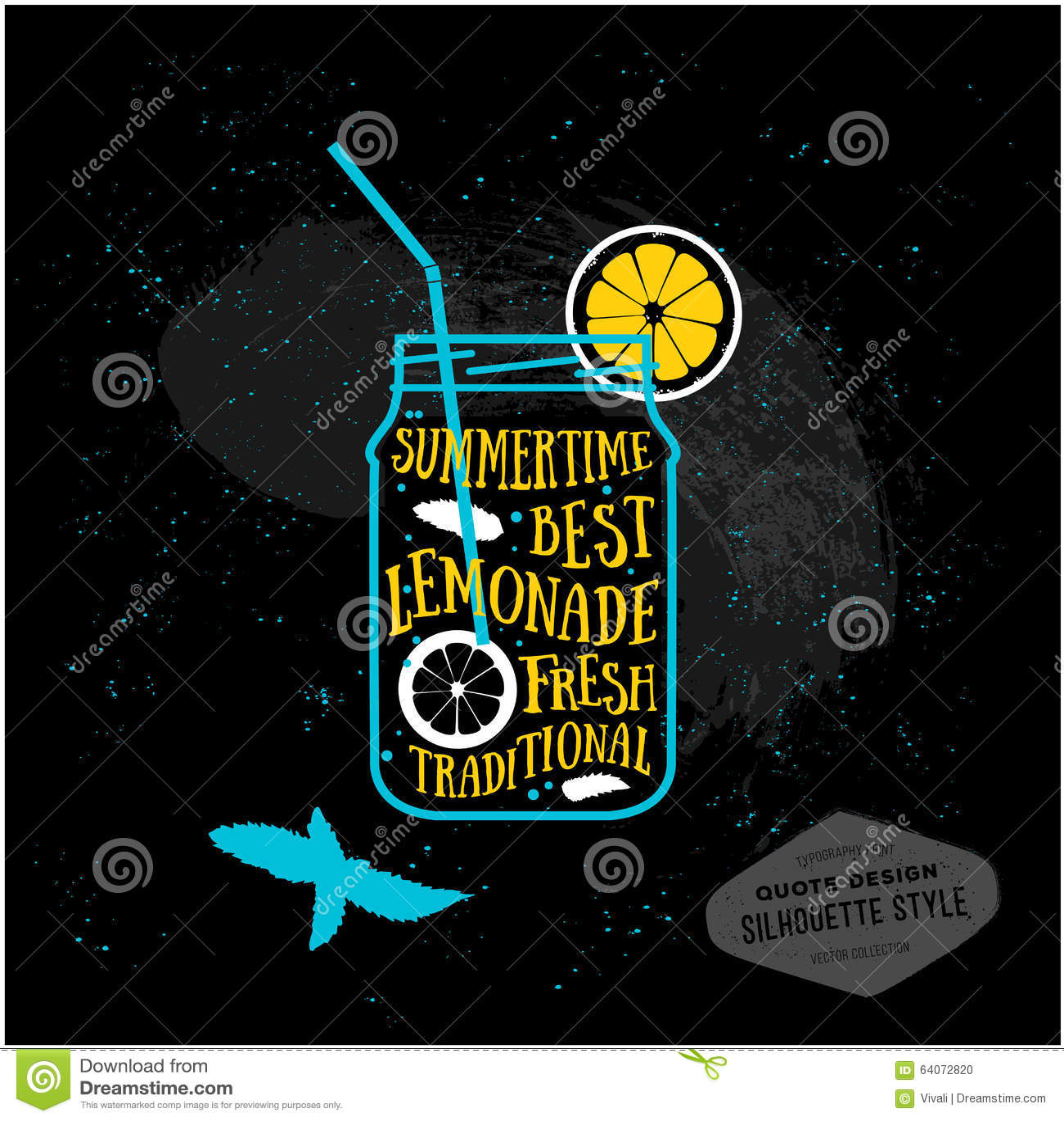 Vector Creative Quotes Card Design Lemonade Stock Vector