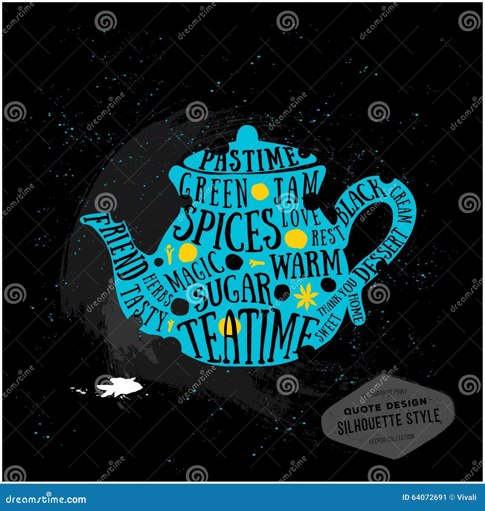 vector creative quotes card design teatime stock vector