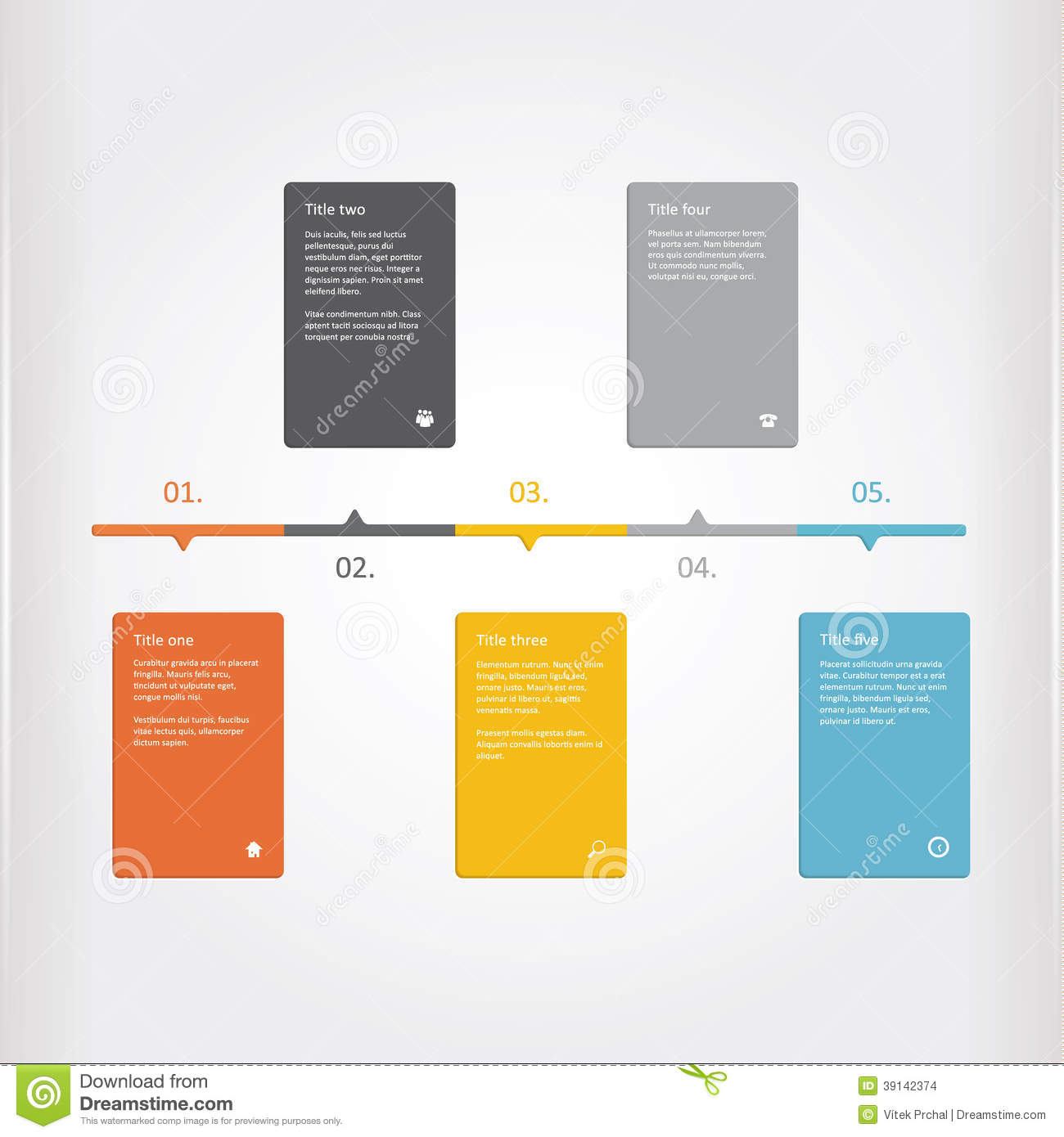 Vector Creative Timeline Template Matt Timeline Profile Colorf - Timeline graphic template